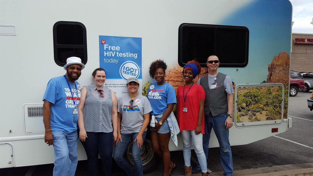 Health Brigade teamed up with Walgreens and Greater Than Aids to offer free HIV testing and condoms.