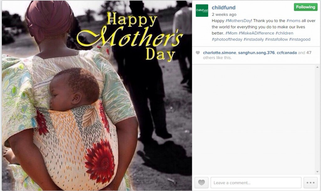 ChildFund Instagram