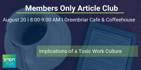 Members Only Article Club August: Toxic Work Culture