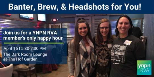 YNPN RVA's Banter, Brew, & Headshots for You!