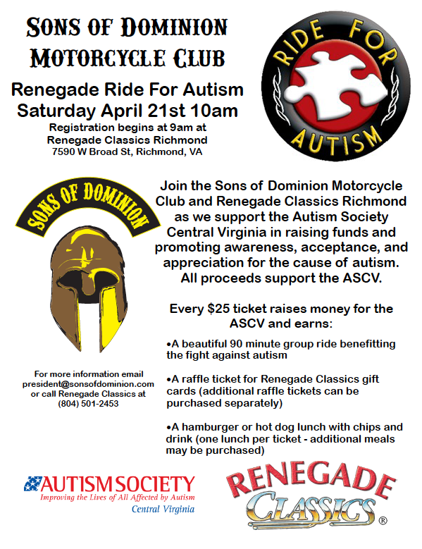 bf348f460c Join the SODMC on their Renegade Ride for Autism to support the ASCV.