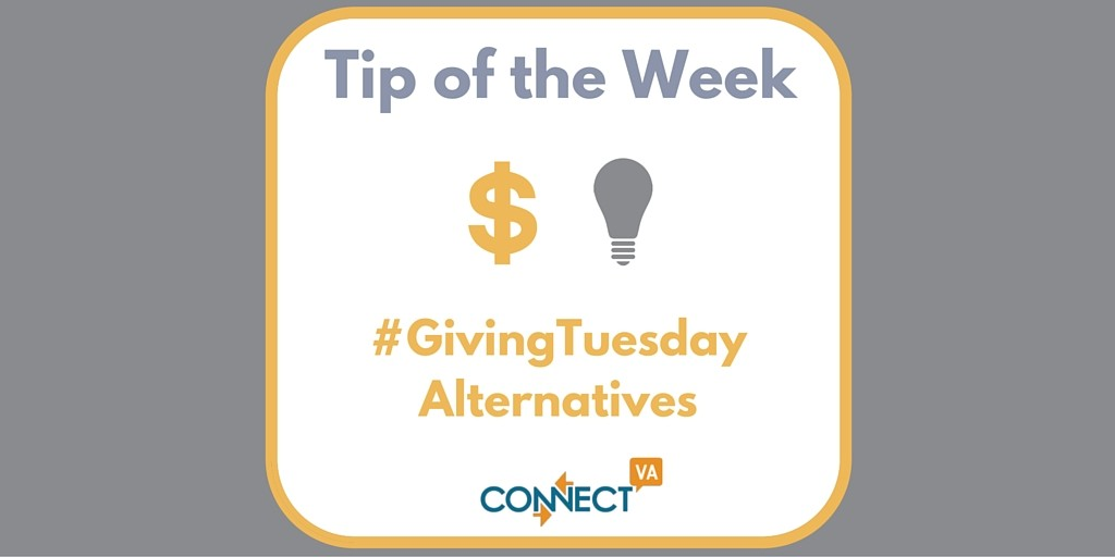 Tip of the Week- Giving Tuesday alternatives