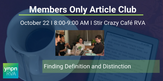 October Members Only Article Club: Finding Definition and Distinction
