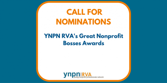 Call For Nominations: YNPN RVA's Great Nonprofit Bosses Awards